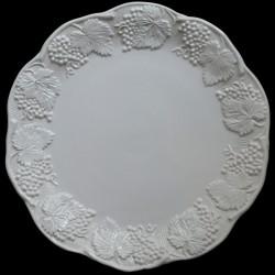 """Assiette de table blanc cassé uni """"George Sand"""""""