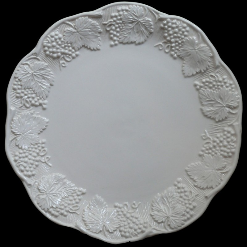 Assiette de table blanc cassé uni  George ...  sc 1 st  Au Bain Marie & Majolica off-white dinner plate