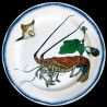 "Decorative tin plate ""Bracquemond"" Lobster"