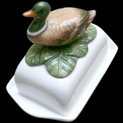 Duck, butter dish