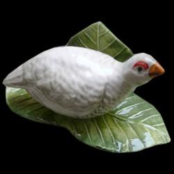 Porte menu perdrix blanche