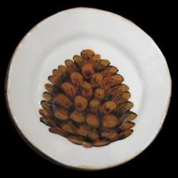 assiette dessert Pomme de pin D 23cm