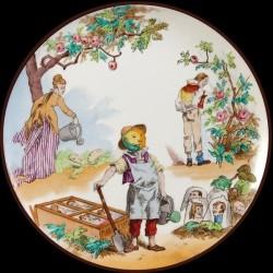 Vieillard tin plate Monde Renversé le Potager