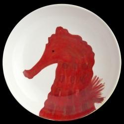 Seahorse big round dish D 38 cm