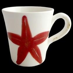 Tasse Mug Etoile de Mer H 11 cm