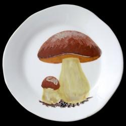 Cèpes Assiette de table D 28 cm