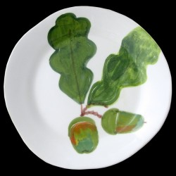 Feuille de Chêne Assiette de table 28 cm