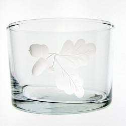 Verre droit bas Feuille de chêne 120 ml H 6 cm D 8,5 cm