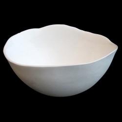 Ensemble de 3 coupelles MM en porcelaine blanche bicuit ey