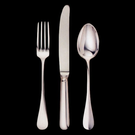 Fourchette de table en métal argenté dans la tradition française