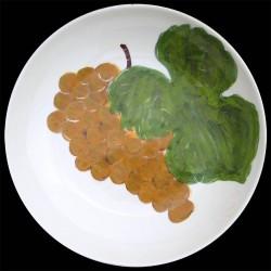 Raisin Grand plat creux saladier 38 cm