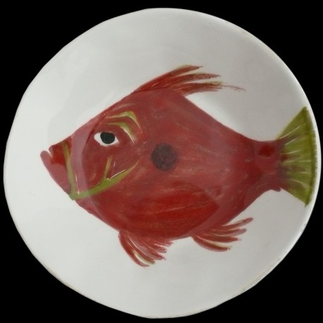John Dory fish soup or pasta plate D 28 cm