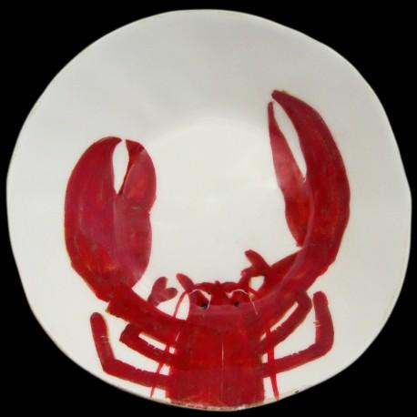 Homard breton assiette creuse D 23 cm