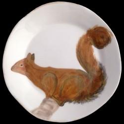 Ecureuil Assiette de table 28 cm