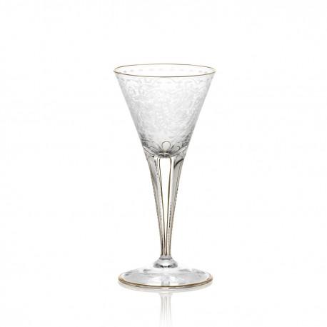 Verre à vin rouge en cristal gravé sans filet 140 ml collection MAHARANI