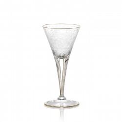 Flute à champagne en cristal gravé avec filet or 160 ml collection MAHARANI