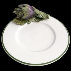 Artichaut sur petite assiette
