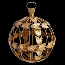 Boule de noël dorée D 17 cm