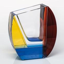 Mondrian crystal vase