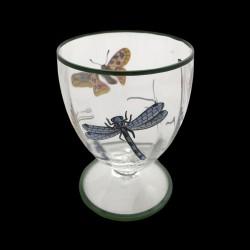 Verre à eau GM papillons et fourmis filet vert