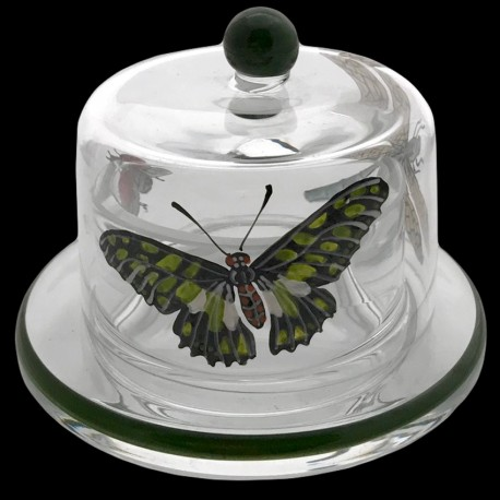 Butter dish 7,5 cm ants and butterflies