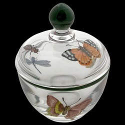 Confiturier cristal décor papillons et fourmis