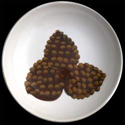 Pomme de pins Grand plat rond creux D 38 cm