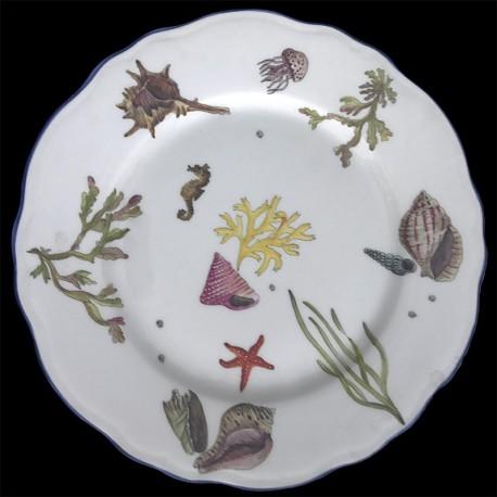 Assiette de table poissons porcelaine de Limoges