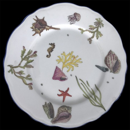 Limoges porcelain dinner plate fishes