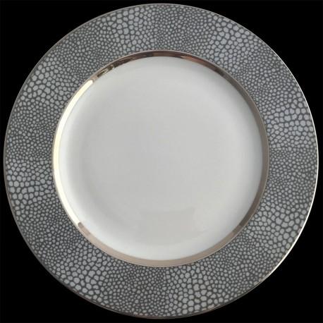 Assiette de table D 27,5 cm Royal Limoges collection La Bocca Vert