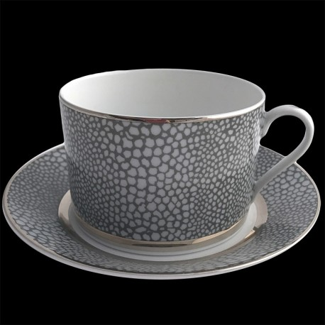 Tasse à déjeuner et sous tasse 30 cl Royal Limoges collection Makassar