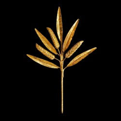 Gilted wheat leaf