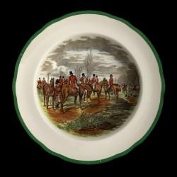 Assiette creuse Copeland hunting scenes Herring