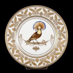 Porcelain Moucherolles Sèvres style dinner plate XXth century