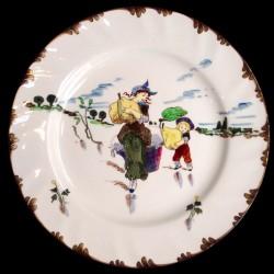 """Десертная тарелка """"Ле Паризьян"""" XIX век Крей Д 23"""