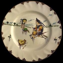 """Настольная тарелка """"Ле Паризьян"""" XIX век Крей Д 26"""
