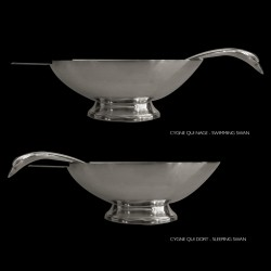 Sauceboat swan edition Christofle Gallia design Fjerdinstad