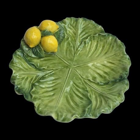 Petite assiette faïence choux Citrons
