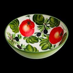 Majolica Olives & Tomatoes Salad Bowl size 3