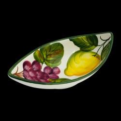 Ravier creux faïence Citrons et Raisins