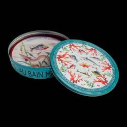 "Tin box of 6 tin plates ""Jules Verne"""