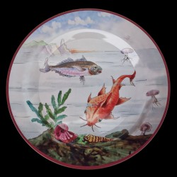 """Tin plate """"The Fantastic World"""" Red mullet"""