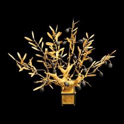 Gilted bonzaï olive tree