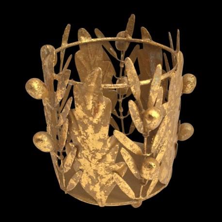 Lampion olivier et chêne doré