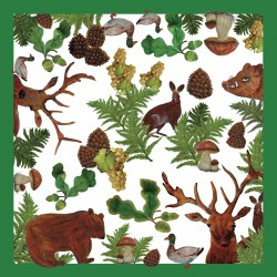 Serviettes papier collection Foret 40x40 cm