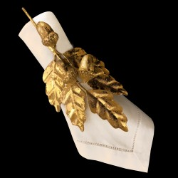 Gilted Oak Napkin ring