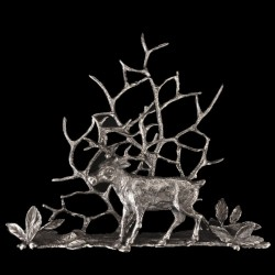 Card / Napkin holder Pewter Deer