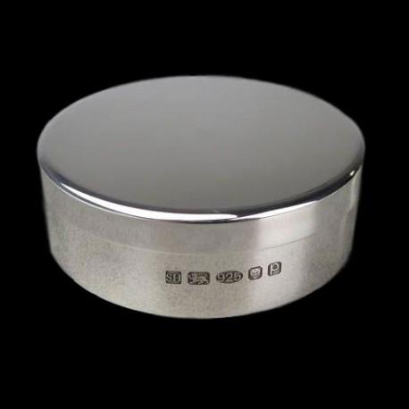 Boite à pilule ronde D 6 cm argent