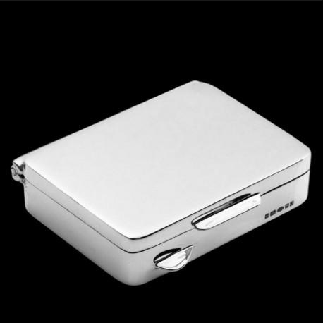 Rectangular pill box 4.6mm x 3.5mm x 1.2 cm silver
