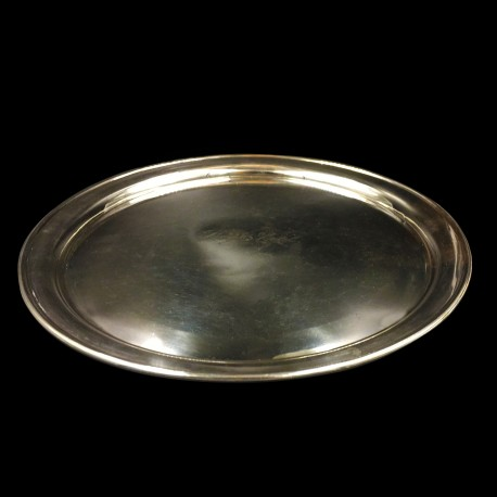 """Silverplated round tray """"Royal Hotel"""""""